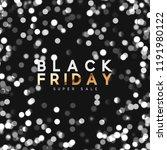 black friday. background bright ... | Shutterstock .eps vector #1191980122