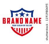 logo design american shield... | Shutterstock .eps vector #1191980695