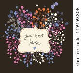 bright background in vintage... | Shutterstock .eps vector #119198308