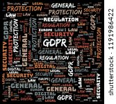 general data protection...   Shutterstock . vector #1191986422