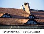 traditional european mansard  ... | Shutterstock . vector #1191988885