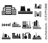 factory and facilities black...   Shutterstock .eps vector #1191991888
