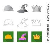 vector design of headgear and... | Shutterstock .eps vector #1191994192
