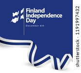 finland independence day vector ... | Shutterstock .eps vector #1191997432