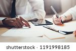 business team working together... | Shutterstock . vector #1191998185