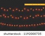 christmas lights  xmas... | Shutterstock .eps vector #1192000735