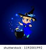 vector cartoon halloween... | Shutterstock .eps vector #1192001992