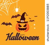 happy halloween vector... | Shutterstock .eps vector #1192003885
