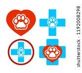 icon symbol of a veterinary... | Shutterstock . vector #1192008298