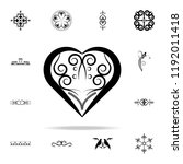 heart ornament icon. ornaments... | Shutterstock . vector #1192011418