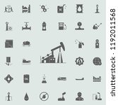 oil rig icon. oil icons... | Shutterstock . vector #1192011568