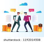 two businessman office workers... | Shutterstock .eps vector #1192014508