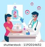 doctor character making... | Shutterstock .eps vector #1192014652