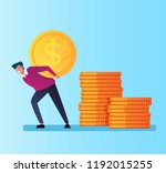 businessman office worker... | Shutterstock .eps vector #1192015255
