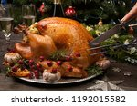 Carving Rustic Style Roasted...