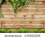 fresh spring green grass and... | Shutterstock . vector #119202205