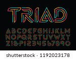 triad is a tricolor primary... | Shutterstock .eps vector #1192023178