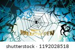 dark halloween background with... | Shutterstock .eps vector #1192028518