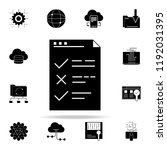 testing checklist icon. web...