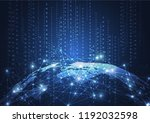global network connection....   Shutterstock .eps vector #1192032598