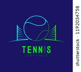 tennis ball with net logo icon... | Shutterstock .eps vector #1192034758