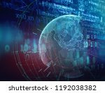 earth futuristic technology... | Shutterstock . vector #1192038382
