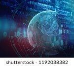 earth futuristic technology... | Shutterstock . vector #1192038382
