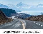 winding road and view of mount... | Shutterstock . vector #1192038562