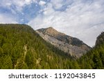 an aerial view of boat mountain ... | Shutterstock . vector #1192043845