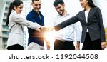 a group of people business or... | Shutterstock . vector #1192044508