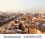 Landscape view of Dharavi. Heart of the Mumbai and biggest slum of the Asia.