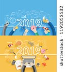2019 new year business success... | Shutterstock .eps vector #1192053532