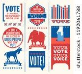 patriotic design elements and... | Shutterstock .eps vector #1192061788