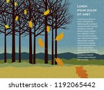autumn background with trees...   Shutterstock .eps vector #1192065442