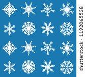 snowflake vector icon... | Shutterstock .eps vector #1192065538