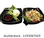papaya salad  fresh vegetable ... | Shutterstock . vector #1192067425