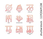 kitchen and cookware icons | Shutterstock .eps vector #1192069138