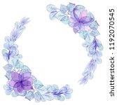 wreath with watercolor light... | Shutterstock . vector #1192070545