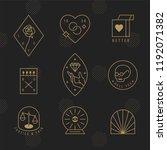 hipster style outline brand... | Shutterstock .eps vector #1192071382