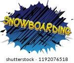 snowboarding   vector... | Shutterstock .eps vector #1192076518