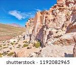 bolivia  salar de uyuni  rock...   Shutterstock . vector #1192082965