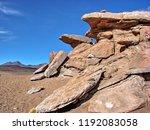 bolivia  salar de uyuni  arbol...   Shutterstock . vector #1192083058
