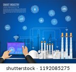 move to factory and industry in ... | Shutterstock .eps vector #1192085275