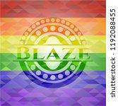 blaze lgbt colors emblem  | Shutterstock .eps vector #1192088455