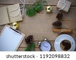 christmas gift card box holiday ... | Shutterstock . vector #1192098832