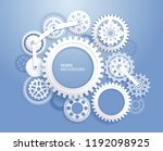 gears background white color... | Shutterstock .eps vector #1192098925