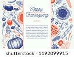 happy thanksgiving day design... | Shutterstock .eps vector #1192099915