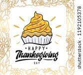 thanksgiving day. logo  text... | Shutterstock .eps vector #1192105378