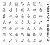 cancer icon set. collection of... | Shutterstock .eps vector #1192115875