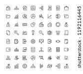 business icon set. collection... | Shutterstock .eps vector #1192116445